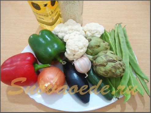 овощи для паэльи