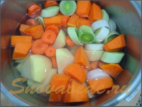 Суп пюре из лука порей