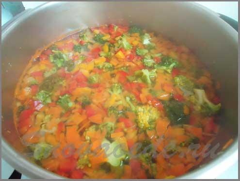 отварить овощи