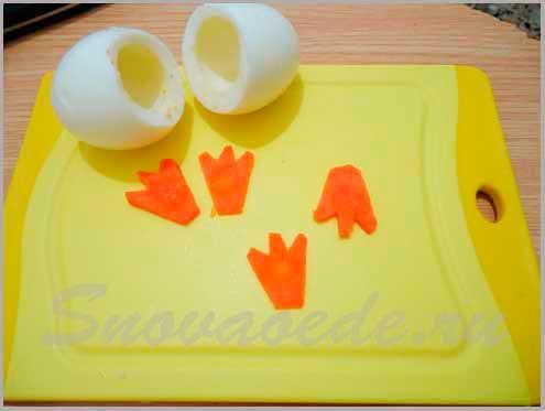 совята из фаршированных яиц