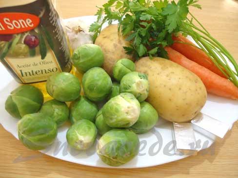 продукты для супа с брюссельской капустой