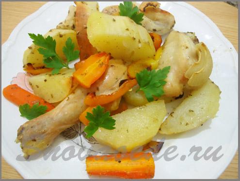 курица запеченая в духовке с картошкой