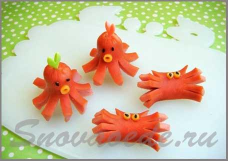 сосиски осьминоги
