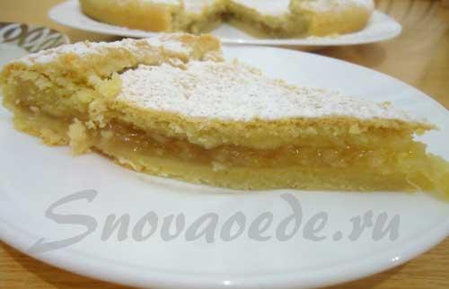 Простой рецепт лимонный пирог