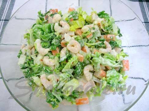 салат из креветок рецепт с фото очень вкусный простой
