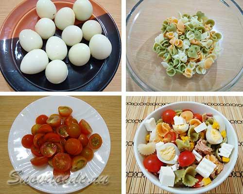 Салат и тунцом и макаронами