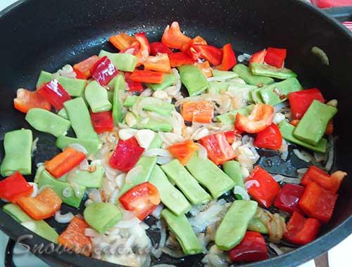 обжарить овоши