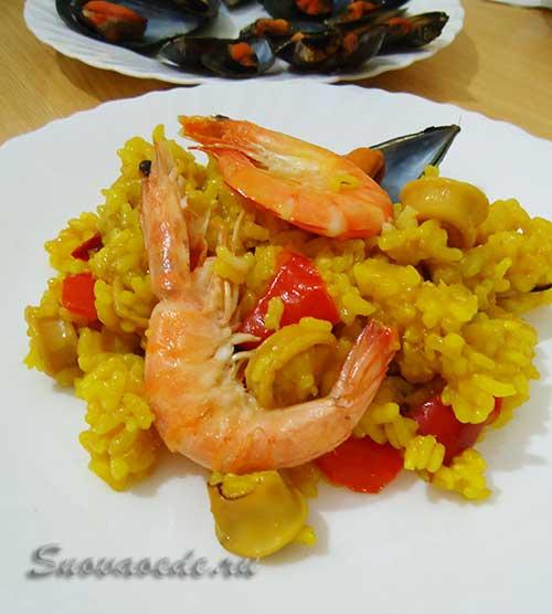 паэлья с  морепродуктами или мечта гурмана