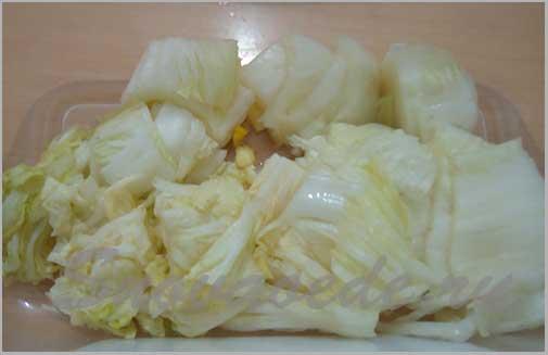 Корейский салат из пекинской капусты - чимчи.