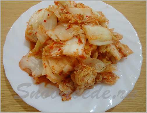 Корейский салат из пекинской капусты - чимчи