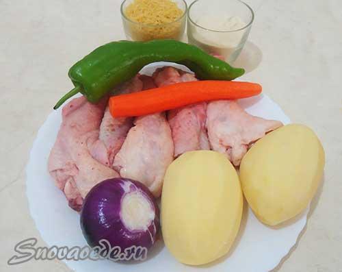 суп с фаршированными куриными шейками