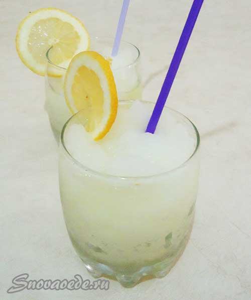 Напиток из лимона - лимонный лед