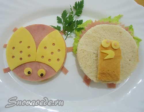 веселые бутерброды для детей