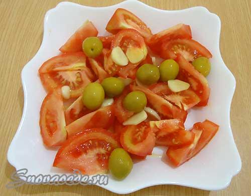 салат из помидора