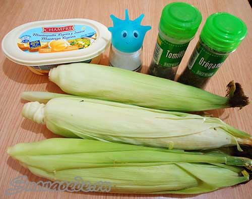 продукты для приготовления кукурузы