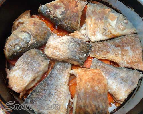 рыбы с овощами