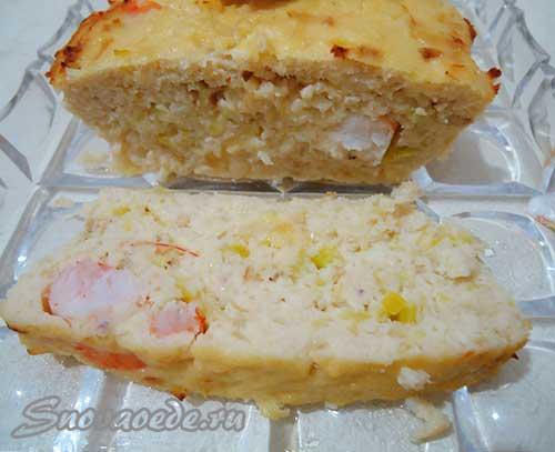 запеканка рыбная или рыбный хлеб
