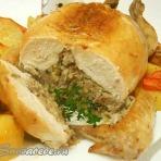 курица фаршированная без костей
