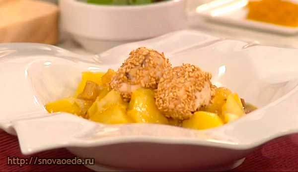 Картошка с курицей и карри