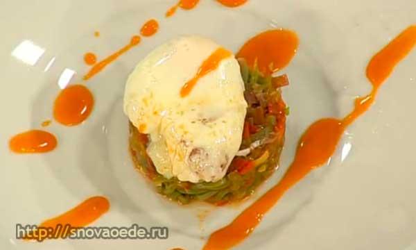 Стручковая фасоль с яйцом