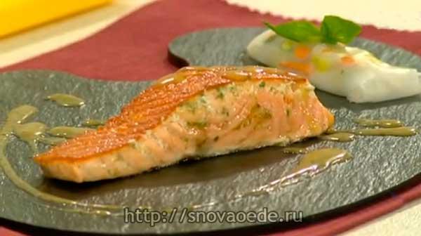 Как приготовить лосось с горчичным соусом