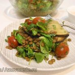 салат из чечевицы и баклажанов