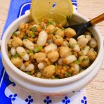 Салат из белой фасоль
