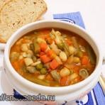 суп из фасоли и замороженных овощей