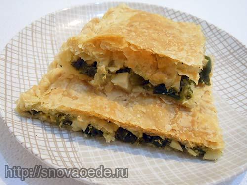 Пирог с луком и яйцами