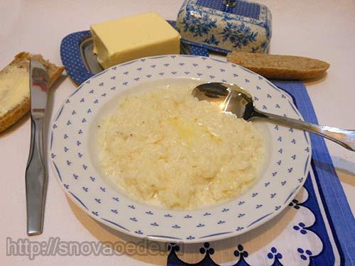 рецепт молочной рисовой каши в мультиварке