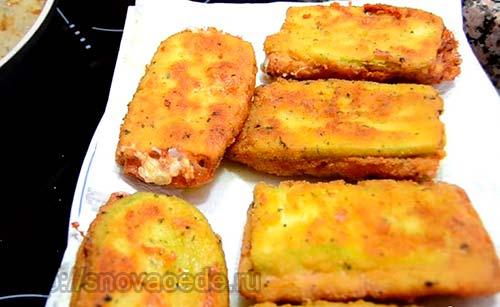 кабачок с ветчиной и сыром
