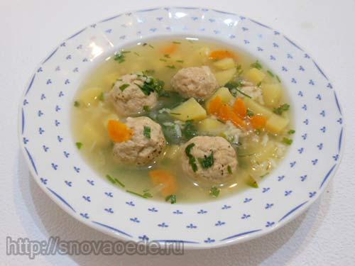Суп с фрикадельками в мультиварке рецепт с фото