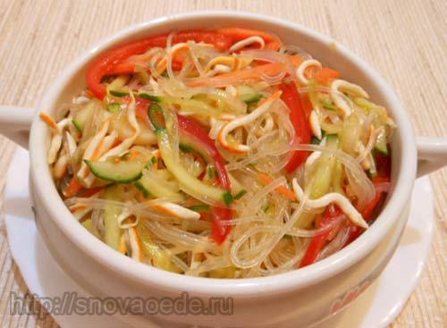 Салат со стеклянной лапшой