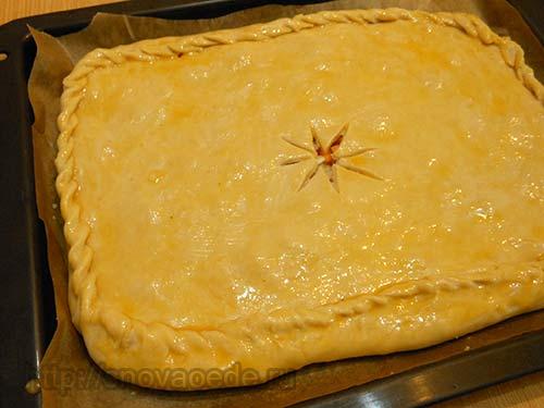 Пирог с начинкой из тыквы
