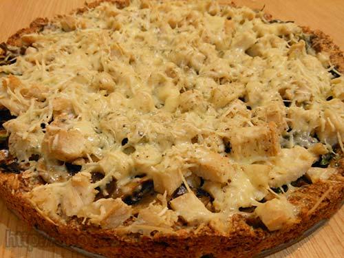 Диетический пирог с курицей и грибами