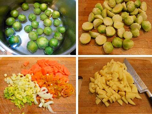 Суп из брюссельской капусты с грибами