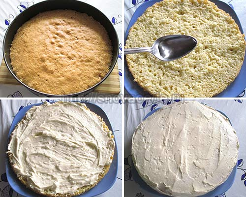 торт с лимонным заварным кремом