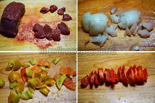 конкильони с пряной печенью и грибами